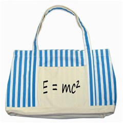 E=mc2 Gravity Formula Physics Striped Blue Tote Bag