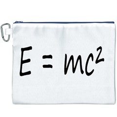 E=mc2 Gravity Formula Physics Canvas Cosmetic Bag (xxxl)