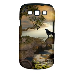 The Lonely Wolf On The Flying Rock Samsung Galaxy S Iii Classic Hardshell Case (pc+silicone)