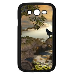 The Lonely Wolf On The Flying Rock Samsung Galaxy Grand Duos I9082 Case (black)