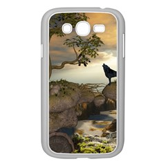 The Lonely Wolf On The Flying Rock Samsung Galaxy Grand Duos I9082 Case (white)