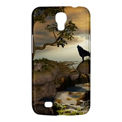 The Lonely Wolf On The Flying Rock Samsung Galaxy Mega 6 3  I9200 Hardshell Case