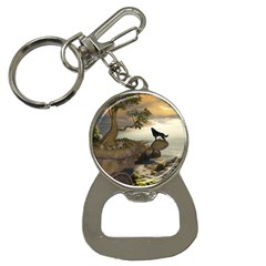 The Lonely Wolf On The Flying Rock Bottle Opener Key Chains