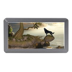 The Lonely Wolf On The Flying Rock Memory Card Reader (mini)