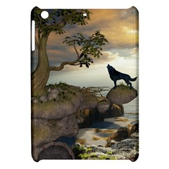 The Lonely Wolf On The Flying Rock Apple Ipad Mini Hardshell Case