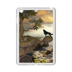 The Lonely Wolf On The Flying Rock Ipad Mini 2 Enamel Coated Cases