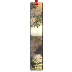 The Lonely Wolf On The Flying Rock Large Book Marks
