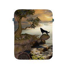 The Lonely Wolf On The Flying Rock Apple Ipad 2/3/4 Protective Soft Cases