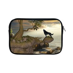 The Lonely Wolf On The Flying Rock Apple Ipad Mini Zipper Cases
