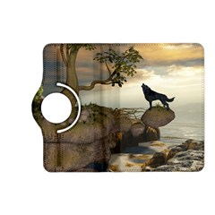 The Lonely Wolf On The Flying Rock Kindle Fire Hd (2013) Flip 360 Case