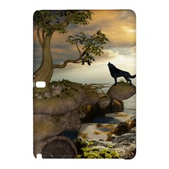 The Lonely Wolf On The Flying Rock Samsung Galaxy Tab Pro 12 2 Hardshell Case