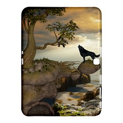 The Lonely Wolf On The Flying Rock Samsung Galaxy Tab 4 (10 1 ) Hardshell Case