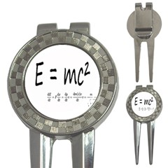 E=mc2 Formula Physics Relativity 3 In 1 Golf Divots