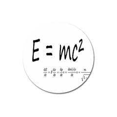 E=mc2 Formula Physics Relativity Magnet 3  (round)