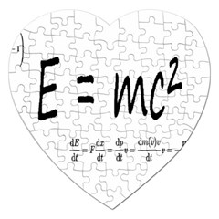 E=mc2 Formula Physics Relativity Jigsaw Puzzle (heart)