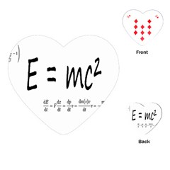E=mc2 Formula Physics Relativity Playing Cards (heart)