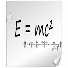 E=mc2 Formula Physics Relativity Canvas 8  X 10