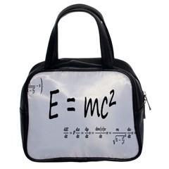 E=mc2 Formula Physics Relativity Classic Handbags (2 Sides)