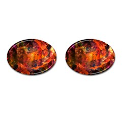 Abstract Acryl Art Cufflinks (oval)