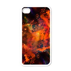 Abstract Acryl Art Apple Iphone 4 Case (white)