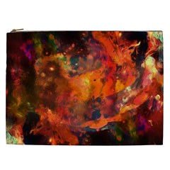 Abstract Acryl Art Cosmetic Bag (xxl)