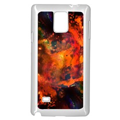 Abstract Acryl Art Samsung Galaxy Note 4 Case (white)