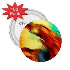 Abstract Acryl Art 2 25  Buttons (100 Pack)