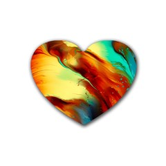 Abstract Acryl Art Heart Coaster (4 Pack)