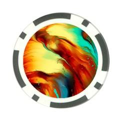 Abstract Acryl Art Poker Chip Card Guard