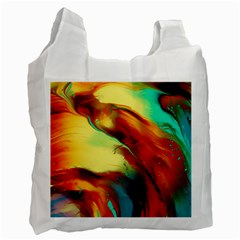 Abstract Acryl Art Recycle Bag (two Side)