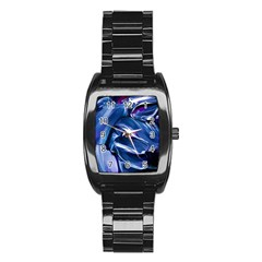 Abstract Acryl Art Stainless Steel Barrel Watch