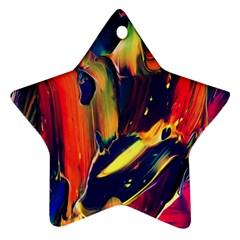 Abstract Acryl Art Ornament (star)
