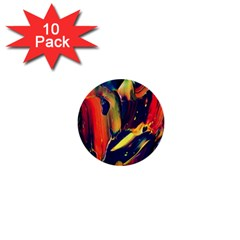 Abstract Acryl Art 1  Mini Buttons (10 Pack)