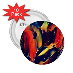 Abstract Acryl Art 2 25  Buttons (10 Pack)