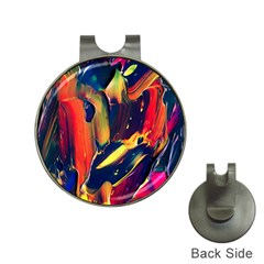 Abstract Acryl Art Hat Clips With Golf Markers