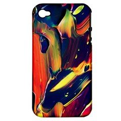 Abstract Acryl Art Apple Iphone 4/4s Hardshell Case (pc+silicone)