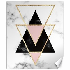 Triangles,gold,black,pink,marbles,collage,modern,trendy,cute,decorative, Canvas 8  X 10