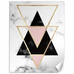 Triangles,gold,black,pink,marbles,collage,modern,trendy,cute,decorative, Canvas 12  X 16