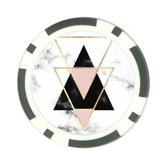 Triangles,gold,black,pink,marbles,collage,modern,trendy,cute,decorative, Poker Chip Card Guard