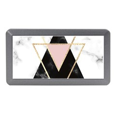 Triangles,gold,black,pink,marbles,collage,modern,trendy,cute,decorative, Memory Card Reader (mini)