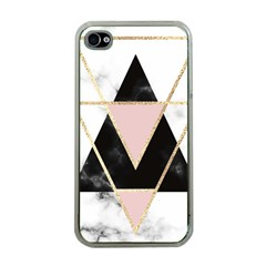 Triangles,gold,black,pink,marbles,collage,modern,trendy,cute,decorative, Apple Iphone 4 Case (clear)