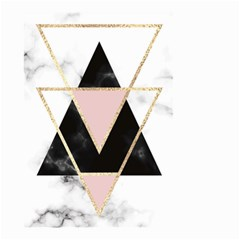Triangles,gold,black,pink,marbles,collage,modern,trendy,cute,decorative, Small Garden Flag (two Sides)