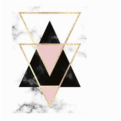 Triangles,gold,black,pink,marbles,collage,modern,trendy,cute,decorative, Large Garden Flag (two Sides)