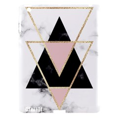 Triangles,gold,black,pink,marbles,collage,modern,trendy,cute,decorative, Apple Ipad 3/4 Hardshell Case (compatible With Smart Cover)