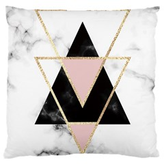 Triangles,gold,black,pink,marbles,collage,modern,trendy,cute,decorative, Large Cushion Case (two Sides)