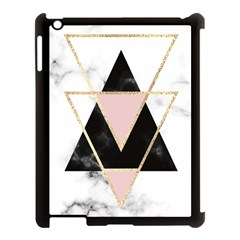 Triangles,gold,black,pink,marbles,collage,modern,trendy,cute,decorative, Apple Ipad 3/4 Case (black)
