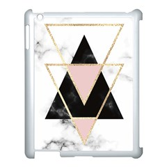 Triangles,gold,black,pink,marbles,collage,modern,trendy,cute,decorative, Apple Ipad 3/4 Case (white)
