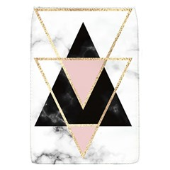 Triangles,gold,black,pink,marbles,collage,modern,trendy,cute,decorative, Flap Covers (s)