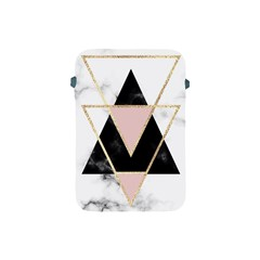 Triangles,gold,black,pink,marbles,collage,modern,trendy,cute,decorative, Apple Ipad Mini Protective Soft Cases