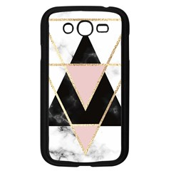 Triangles,gold,black,pink,marbles,collage,modern,trendy,cute,decorative, Samsung Galaxy Grand Duos I9082 Case (black)